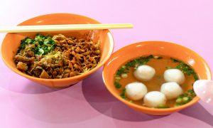 Xin Lu Fishball Mee Pok Noodles.